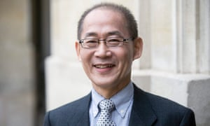 Hoesung Lee leaves the Elysee Palace after a meeting with French president Francois Hollande.