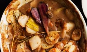 Meat-free feast: Jerusalem artichoke hotpot.
