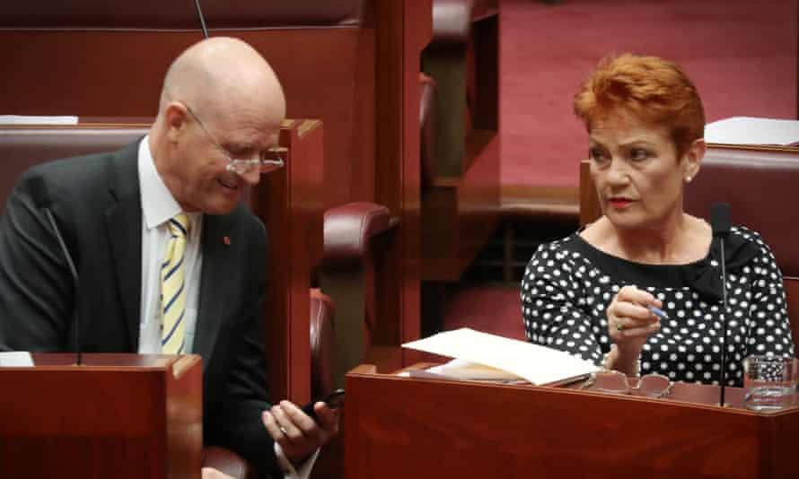 David Leyonhjelm Pauline Hanson