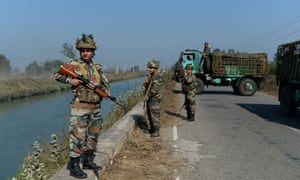 Indian security forces secure the Munak canal, which supplies a reported 60% of Delhi's water