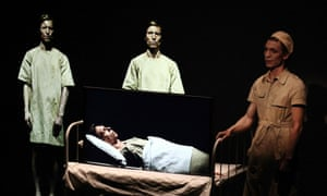 Valentijn Dhaenens uses screens to play multiple characters in one-man show SmallWar at the Adelaide Festival.