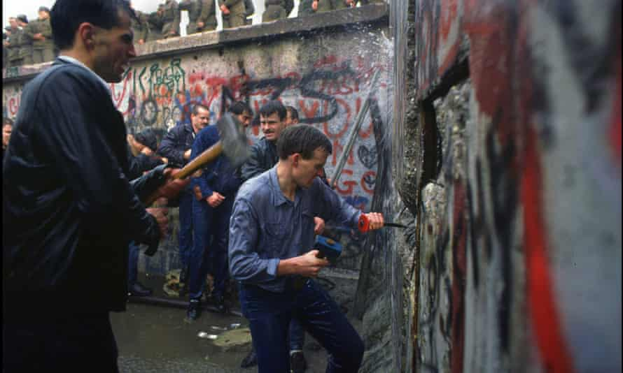 The fall of the Berlin wall in 1989 marked the high point of US power around the world.