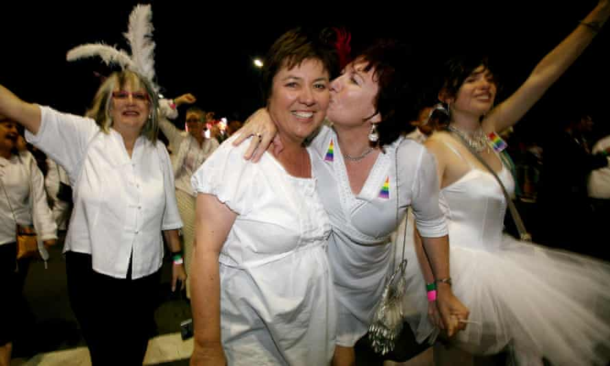 The first Mardi Gras entrants from 1978 at Sydney's Mardi Gras on 1 March 2008.