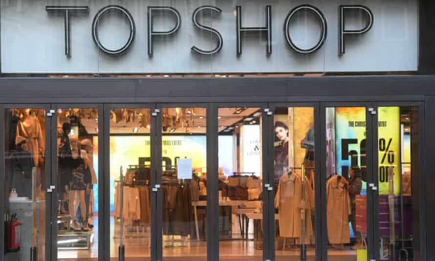 Topshop's store in Oxford Street, London.