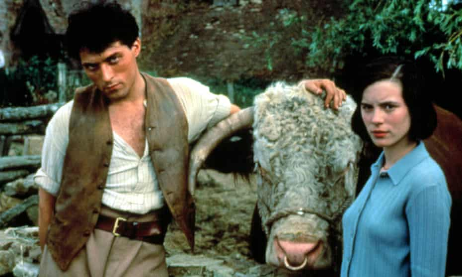 Family matters: Seth Starkadder (Rufus Sewell), Big Business and Flora Poste (Kate Beckinsale) in Cold Comfort Farm (1996).