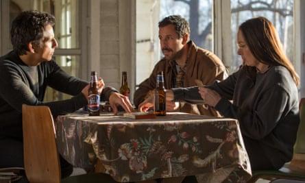 Ben Stiller, Adam Sandler and Elizabeth Marvel in The Meyerowitz Stories