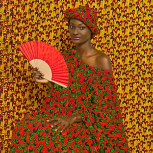 Aminata, 2013, by Omar Victor Diop.Omar Victor Diop lives and works in Dakar. His work includes fine art and fashion photography as well as advertising. He enjoys mixing photography with other art, such as costume design, styling and creative writing.