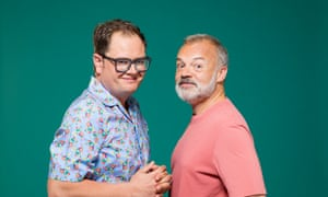 'Drag gives you a freedom. There's something dangerous about it still' … Alan Carr and Graham Norton.