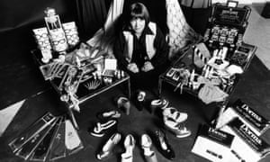 Mary Quant with examples from the Mary Quant range of products including shoes, makeup, glasses and textiles.