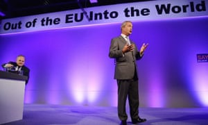 Nigel Farage during Ukip's annual conference at Doncaster racecourse.