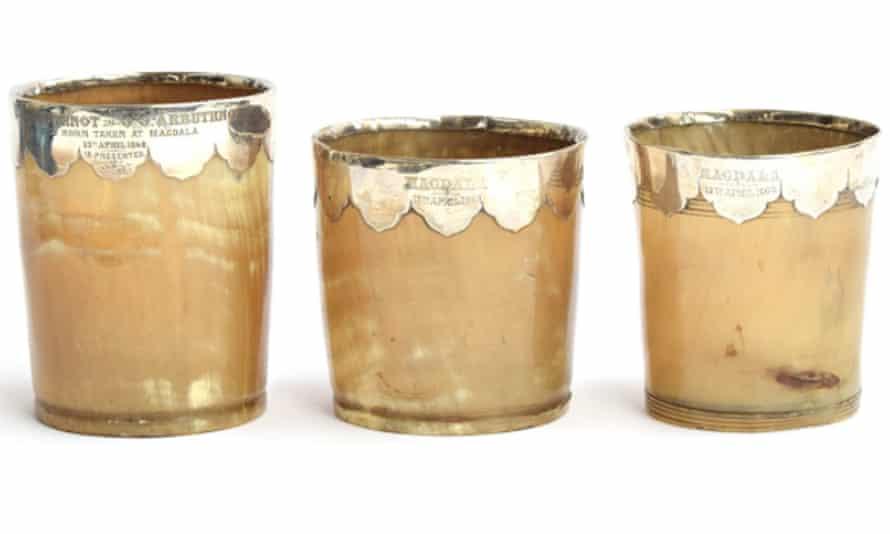 set of horn beakers