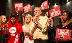 Jeremy Corbyn at the final rally of his campaign for the Labour leadership