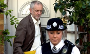 Jeremy Corbyn leaves his home on Tuesday as he faces increased calls to resign as Labour leader
