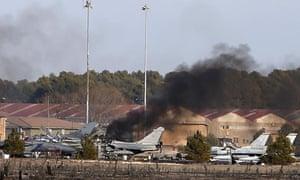Fighter jet crash in Albacete