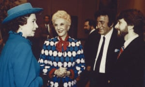 The Queen, Mary Martin, Tony Bennett, and Steve Silver together in 1983.