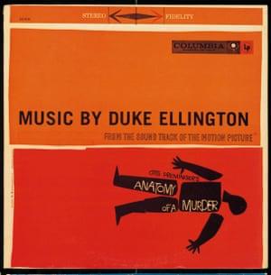 DUKE ELLINGTON, ANATOMY OF A MURDER (COLUMBIA), SAUL BASS (DESIGN) SAM LEAVITT (PHOTO), 1959