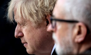 Boris Johnson and Jeremy Corbyn at the vigil for the victims of the London Bridge attack this morning.