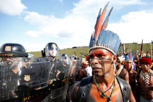 Indigenous leaders say the violence has got worse as Brazil's economic crisis has deepened