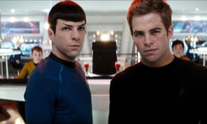 Zachary Quinto and Chris Pine in Star Trek, the subject of an official podcast.