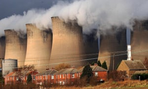 A coal-fired power station. The UK has reduced its annual emissions by more than 43% since 1990.