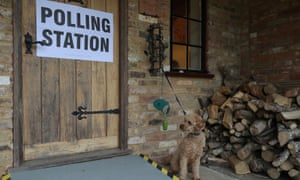 A polling station in the 2017 general election