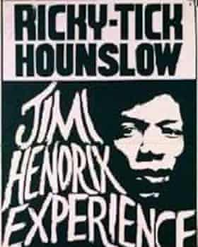 A poster advertising the Jimi Hendrix Experience