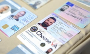 A photo released by the Venezuelan Miraflores preisdential press office shows ID cards of former US special forces citizen Airan Berry and Luke Denman.