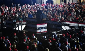 President Donald Trump addressed a campaign rally in Michigan.