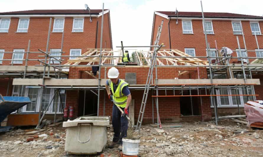 Barratt house in construction
