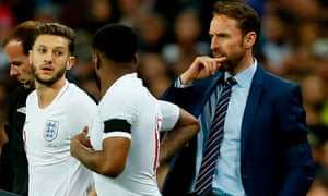 Gareth Southgate is likely to take Joe Hart to the World Cup as his No 3 goalkeeper and will probably allow as much time as possible for Adam Lallana, left, to prove his fitness.