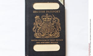An old British passport