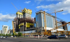 Abu Dhabi Plaza towers being built in Astana, capital of Kazakhstan