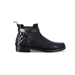 Black rubber, £105, hunterboot.com