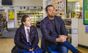 Danny Dyer with his daughter in Let's Talk About Sex.