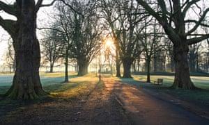 Early morning on Midsummer Common, Cambridge.