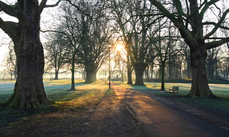 Early morning on Midsummer Common, Cambridge.
