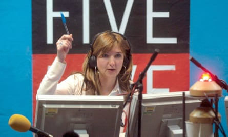 Victoria Derbyshire during her days at BBC 5 Live.