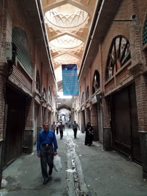The Grand Bazaar was closed on Monday during the protests.