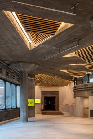 The restored triangular roof lights of the Queen Elizabeth Hall foyer.