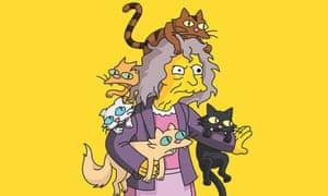 Výsledek obrázku pro woman with cats simpsons
