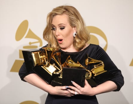 With her six Grammy awards in 2012.