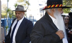 Noel Pearson and Patrick Dodson arrive to Naidoc meeting in July 2015.
