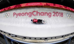 Wolfgang Kindl tries out the Olympics circuit in Pyeongchang.