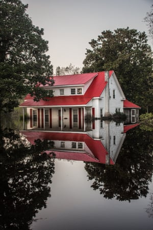 A local pastor's home, which succumbed to flood waters in Burgaw, North Carolina.