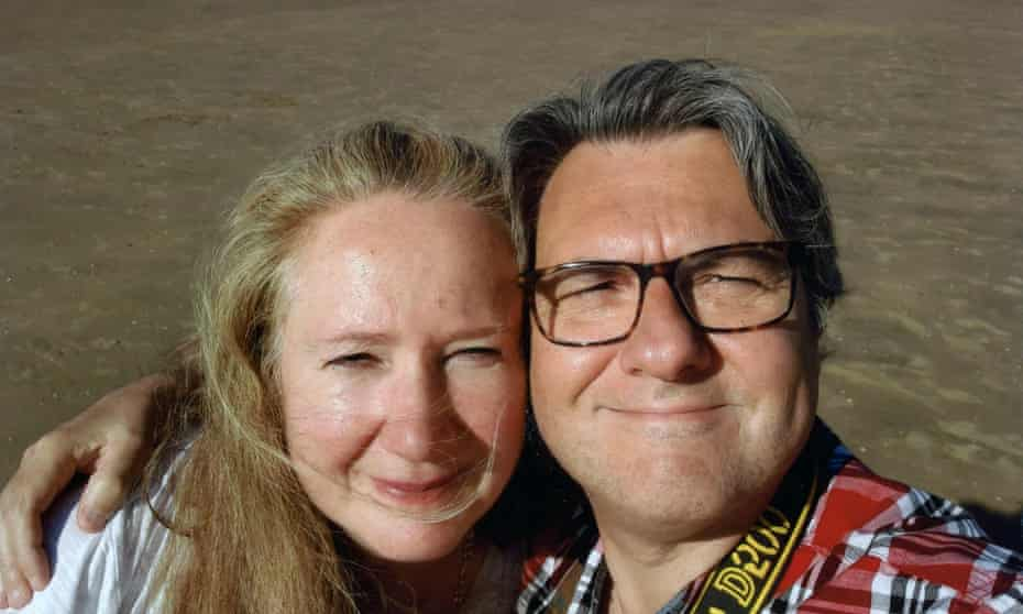 Catherine and Maurizio at Camber Sands.