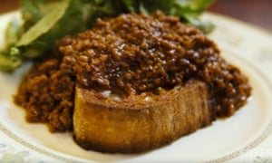 Mince on toast: 'a logical and delicious thing to do.'