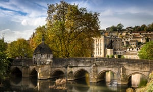 Bradford on Avon, the town bridge over the river Avon in the quaint Wiltshire town