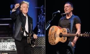 Paul McCartney Paul McCartney at the Liverpool Echo, 12 December 2018, and Bruce Springsteen at the Walter Kerr theatre, New York, July 2018.
