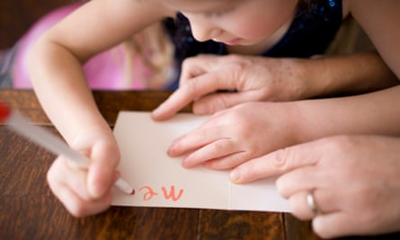 Girl writing a card