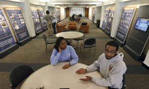 Princeton University seniors Kristen Coke and Jameil Brown were among the first to see the new exhibit.